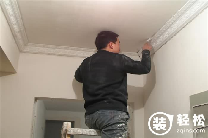石膏线的安装方法:粘法 钉法