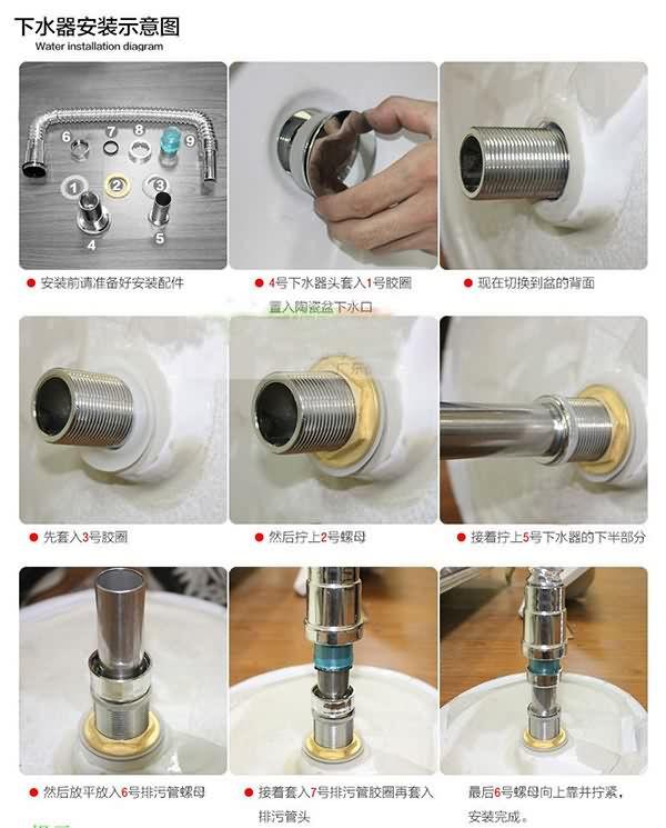 面盆下水安装_面盆的下水器都有哪些,怎么安装?